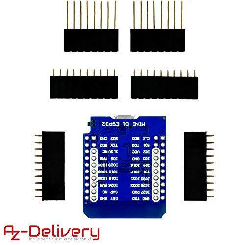 AZDelivery 3 x ESP32 D1 Mini NodeMCU WiFi Modul + Bluetooth Internet Entwicklungsboard kompatibel mit Arduino