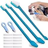 Cepillo de dientes para mascotas para perros, gatos y mascotas pequeñas, diseño de doble cabeza,kit de herramientas profesionales de limpieza de dientes para perros y gatos