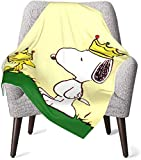 Keyboard cover Snoopy King Babydecke oder Flauschige Decke für Kinder Unisex-Decke für Kinderbett Couch Living Room Travel Superweiche warme Kinderdecke 50x40in