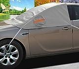 A-Express Coche Protector para parabrisas Cubrir Antihielo y Nieve Funda SUV Parabrisas Protector de Pantalla Solar Rayos UV Cubierta del Polvo térmico Cubierta