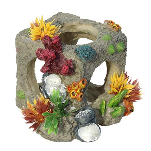 scwopeuer Creative Aquarium Fish Tank Landscaping Decoration Vintage Home Resin Hideaway