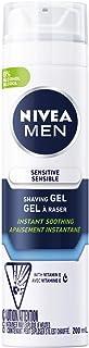 NIVEA Men Sensitive Skin Shaving Gel (200mL), Shaving Gel for Sensitive Skin, Allows for a Close Razor Shave and Leaves an...