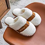 XZDNYDHGX Memory Foam Comfortable Flax Shoes,Women Winter Slippers Cartoon Shoes Non Slip Soft,...
