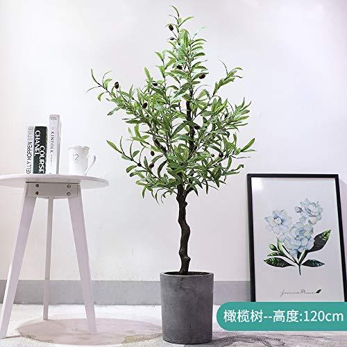 MyWheelieBin Große Künstliche Sonnenblumenpflanze, Die Große Topfpflanze Der Anemonenbonsai-innenausstattung Der Gefälschten Grünpflanze Ausbreitet 1,2 m Olivenbaum ohne Zementbecken