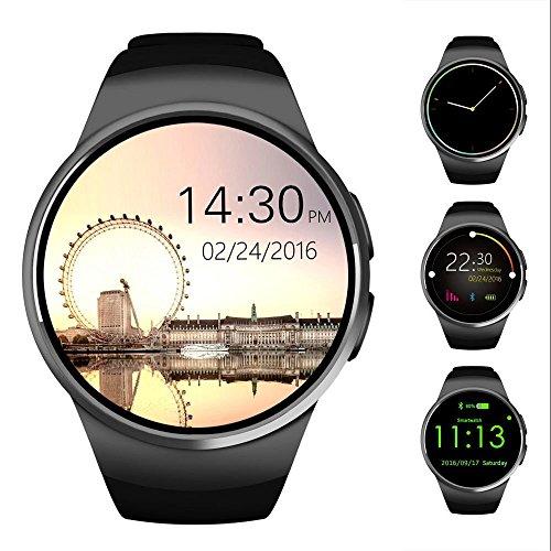 Bluetooth reloj inteligente, Ronda de 1,3pulgadas IPS pantalla táctil resistente al agua reloj teléfono con tarjeta SIM ranura, monitor de sueño, monitor de ritmo cardíaco y podómetro