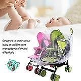 Juman634 Kinderwagen-Netzbezug Twin Kinderwagen Moskitonetz Krippe Wiege Atmungsaktives Moskitonetz Für die meisten Babybetten Kinderbetten Playpens Jogger und Reisebett
