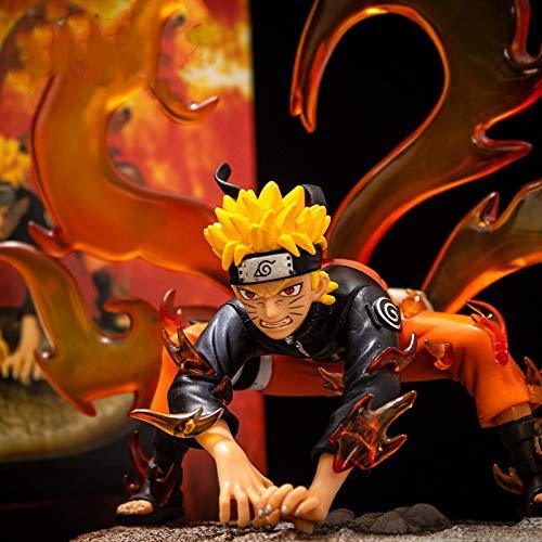 Anime Naruto Sennin Moodo PVC Pop Figura de acción Colección Modelo Kurama Adornos de decoración de juguetes combinados Figuras de acción para niños Adolescentes y fanáticos del anime 20CM