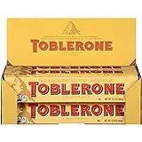 Toblerone Swiss Milk Chocolate with Honey & Almond Nougat, Valentine's Chocolate, 10 - 12.6 oz. Bars