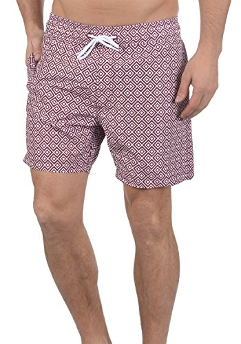 Blend Meo Herren Badehose Badeshorts Schwimmshorts Mit Kordel, Größe:XL, Farbe:Zinfandel (73006)