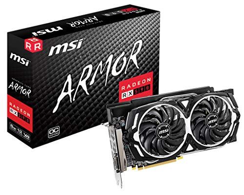 MSI RADEON RX 590 ARMOR 8G OC Scheda grafica '8GB GDDR5, 1565Hz, AMD Polaris 30 XT GPU, 2x DisplayPort, 2x HDMI, DVI-D, sistema di raffreddamento a doppia ventola'