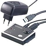 Xystec Festplatten Kopieren: USB-3.0-Festplatten-Adapter mit Klon-Funktion, für HDD & SSD mit SATA (Festplatten Dockingstationen)