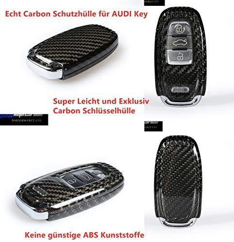 Voll Carbon Echt Carbon Schlüssel Cover Hülle passend für A4 A5 A6 A7 A8 Q5 Q7 S4 S5 S6 S7 S8 RS3 RS4 RS5 RS6 SQ5 RSQ3
