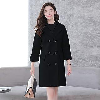 秋冬新款毛呢外套女中长款韩版小矮个子手工双面羊绒呢子大衣