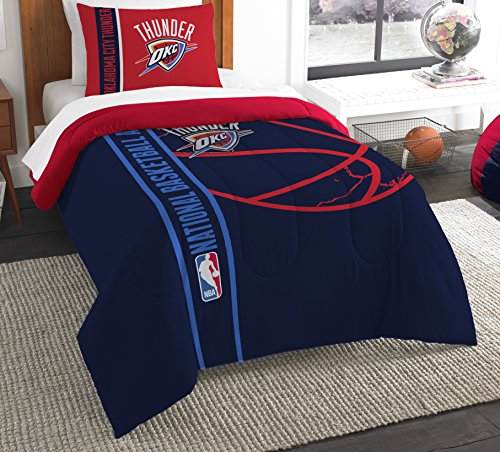 The Northwest Company Officially Licensed NBA Oklahoma City Thunder Reverse Slam Full/Queen Comforter and 2 Sham Set