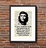 Che Guevara - Revolution Injustice - Quote - 8x11 Vintage Dictionary Page Art