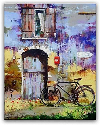 DFGJ Bicicleta Rompecabezas Adultos 5000 Piezas Juguetes de Madera Juego de Rompecabezas Educativo niños 181 * 105 cm