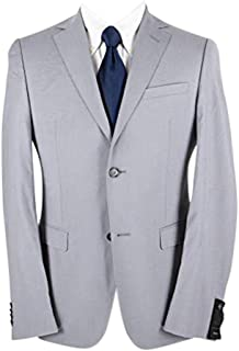 Z Zegna Cloud Grey Wool Woven Lined Dual Vents Flat Front 2Btn Suit 36R