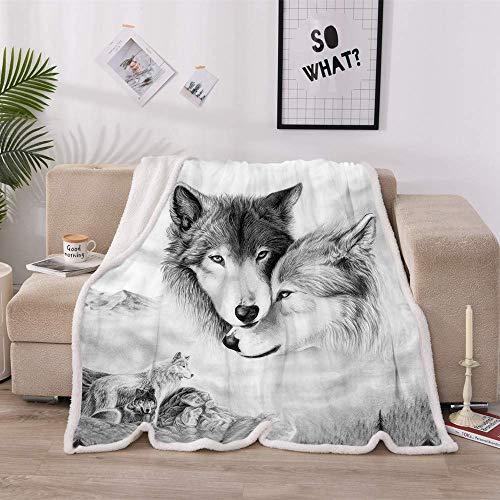 HUFT Home Textiles - Manta para aire acondicionado (130 x 150 cm, doble plush)