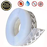 Weather Stripping, Aheadife Door Seal Strip Self Adhesive Silicone Draft Bottom Gap Replacement Strip Roll Soundproof for Door, Window 16.5Ft