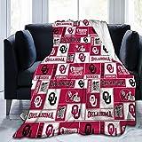 Okla-Homa Football Soo-ners Blanket Ultra-Soft Micro Fleece Blanket,Light Plush Bed Blanket Home Bedding Living Room Throw Popular Blankets for beds, Sofas and Sofas 50'x40'