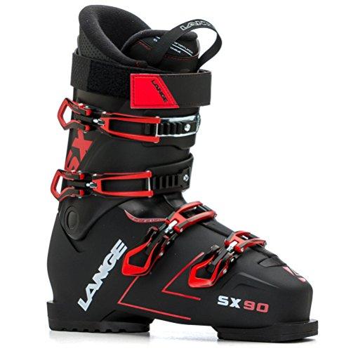 LANGE SX 90 Botas de Esquí, Hombre, Negro (True) / Rojo, 26