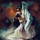 empireposter Haenraets, Willem - Tango Argentino I - Kunstdruck Artprint Gemälde - Grösse 70x70 cm