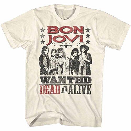 American Classics Banda de rock bon jovi vivo o muerto camiseta naturales para hombre Medio Beige