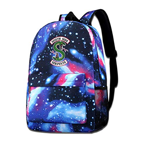 Galaxy Printed Shoulders Bag Riverdale Fans Riverdale Serpents Southside Fashion Casual Star Sky Backpack for Boys&Girls