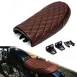 Triclicks Motorrad Sitz Sitzsattel Sitzbänke Sitze Sattel Retro Cafe Racer Sitzbezug Universal