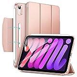 ESR iPad Mini 6 Case 8.3 Inch 2021 iPad Mini 6th Generation Case, Ultra Slim Trifold Stand with Clasp, Auto Sleep/Wake, Supports Pencil 2 Charging, Hard Back Smart Cover for iPad Mini 6th 2021, Pink