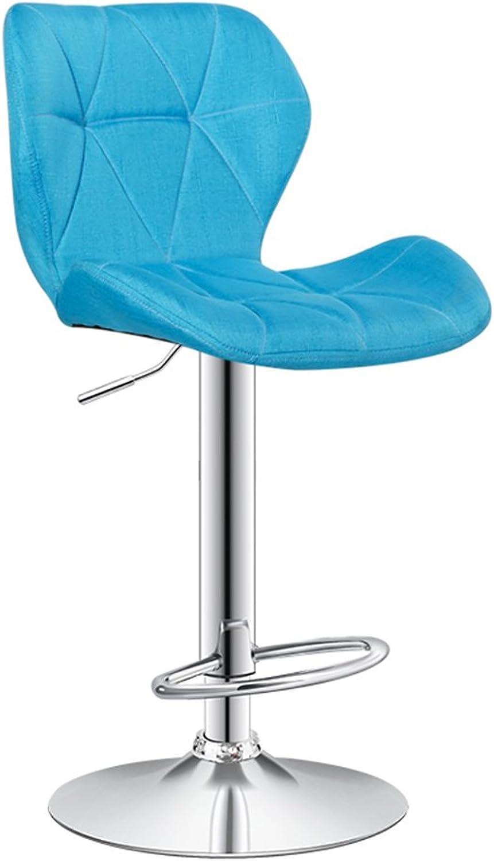 QIDI Bar Stool Backrest redate Metal High-80cm (color   Style 3)