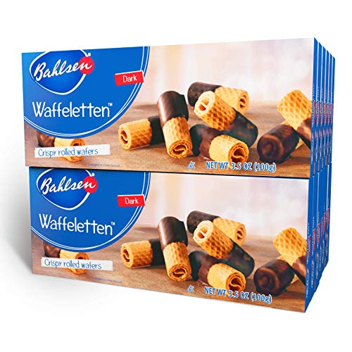 Bahlsen Waffeletten Dark Chocolate Dipped Cookies (12 boxes) - Delicate...