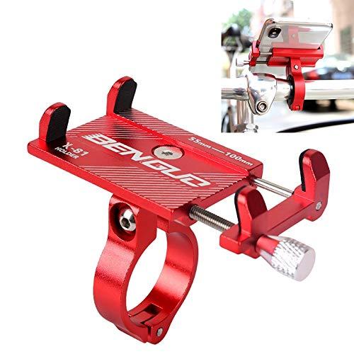 NoNo Autotelefoonhouder voor motorfiets, motorfiets, veer golf QC3.0 laadstation aluminiumlegering telefoon Bracket-zwart rood