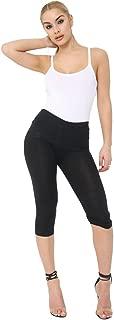 Momo&Ayat Fashions Ladies 3/4 Length Cotton Cropped Soft Capri Leggings AUS Size 8-26