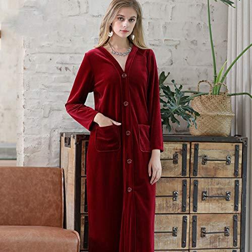 Yuyaxpb Luxe badjas, zeer zacht, badjas, met twee zakken, eenvoudige stijl