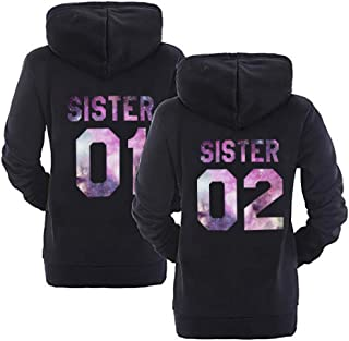 Best Friend Hoodies Matching Sweaters for Bestfriends Teen Girl Sweatshirt 2 Pcs