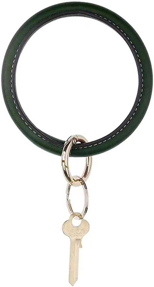 Wristlet Keychain Bracelet Bangle Keyring, Large Circle Key Ring Leather Bracelet Holder For Women Girl – Free Your Hands