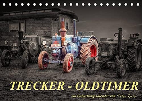 Trecker - Oldtimer/Geburtstagskalender (Tischkalender 2022 DIN A5 quer)