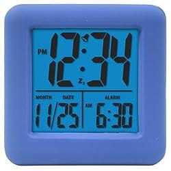 Equity by La Crosse 70905 Soft Blue Cube LCD Alarm Clock