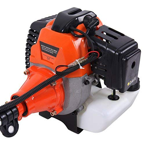 TryE 52cc 5 in 1 Brush Cutter Grass Hedge String Trimmer Gas Powered Chainsaw Pole Saw Included Extension Pole Multifunction Garden Tools for Tree Trimming