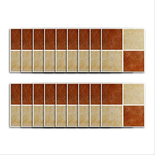 Etiqueta engomada del azulejo de vinilo/patrón de ladrillo retro, costura cuadrada de color, etiqueta engomada de la pared tridimensional impermeable de la cocina etiqueta engomada del azulejo