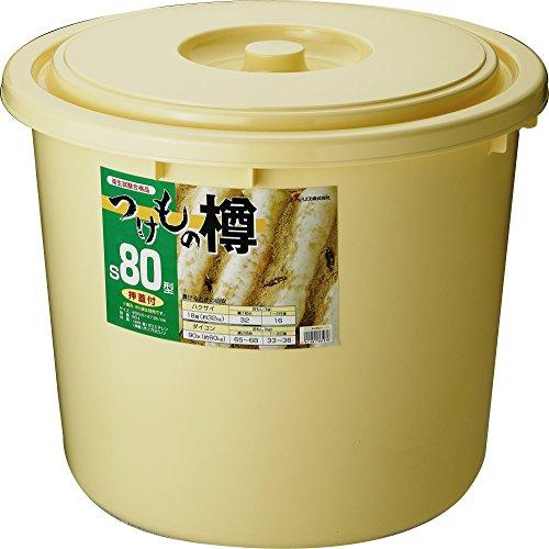 リス 漬物樽 丸型 押ぶた付き アイボリー 80L つけもの樽 S 80型 日本製 衛生試験合格品