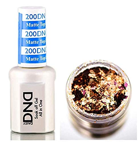 Daisy DND 200 MATTE TOP GEL, Soak off Gel NAIL All In One Daisy Top Coat for Nails (with bonus...