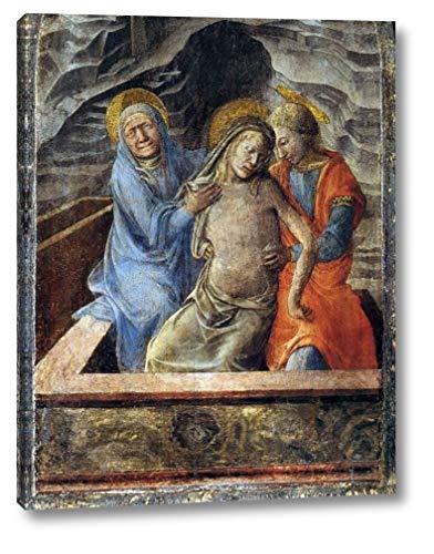 "Pieta by Fra Filippo Lippi - 12"" x 16"" Gallery Wrap Canvas Art Print - Ready to Hang"