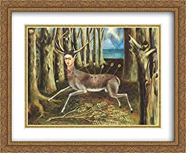 The Wounded Deer (Little Deer) 2X Matted 34x28 Large Gold Ornate Framed Art Print by Frida Kahlo