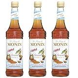Monin Sirup Caramel Light, 0,7L 3er Pack -