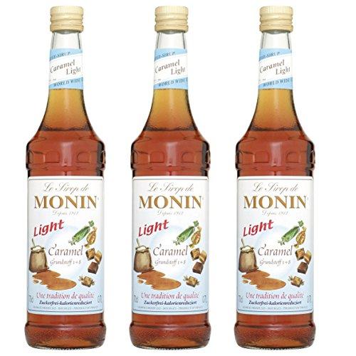 Monin Sirup Caramel Light, 0,7L 3er Pack