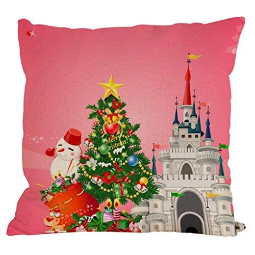 45cm*45cm + federe, Kingko nuovo Natale colorato federa divano cuscino Home Decor