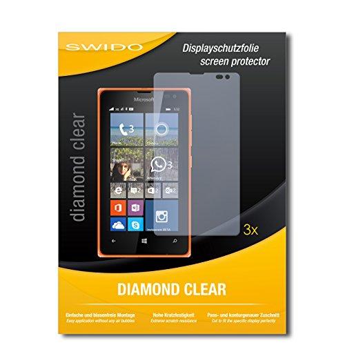 SWIDO 3 x Schutzfolie Microsoft Lumia 532 Bildschirmschutz Folie DiamondClear unsichtbar