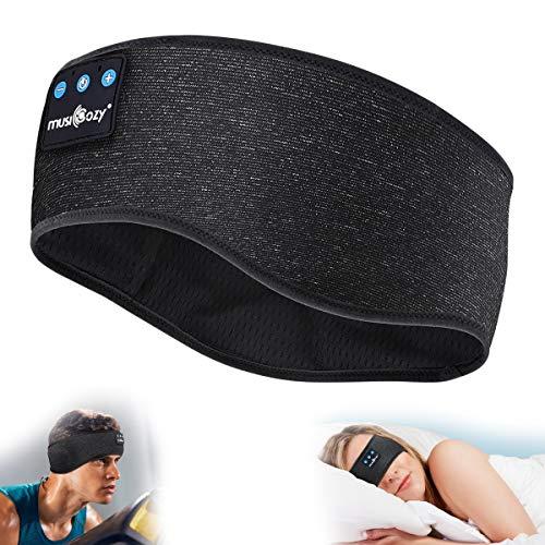 Schlafkopfhörer Bluetooth Strinband Schlaf Headband Sleepphones Kopfhörer zum Schlafen kabellose Sportskopfhörer Musik schlafen, Super Weich Schlafmaske Perfekt für Sport, Seitenschläfer, Entspannung